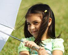 Free Playing With An Umbrella Royalty Free Stock Photography - 4057837