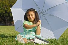 Free Playing With An Umbrella Royalty Free Stock Photos - 4057838