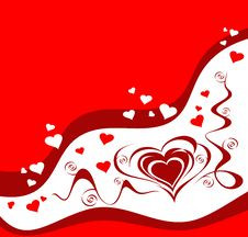 Free Valentine Greeting Card With Heart Royalty Free Stock Image - 4057896