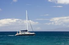 Free Motoring Catamaran Royalty Free Stock Photo - 4058385