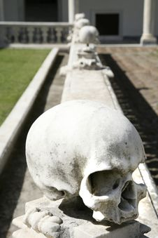 Free Balustrade With Skulls Stock Photography - 4058492
