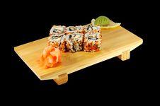 Free Sushi Roll Hakaido Maki Stock Image - 4058671