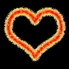 Fire Heart 3 Royalty Free Stock Images
