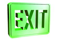 Free Exit Sign Stock Image - 4059061