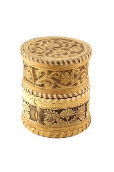 Russian Souvenir. Jewellery Box Bark Of A Tree Stock Image