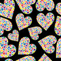 Free Seamless Tile Of Flower Filled Hearts Stock Photos - 4063043