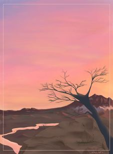 Free Pink Sunset Stock Image - 4060421