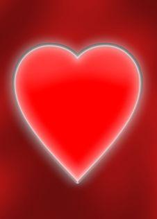 Lighting Heart Royalty Free Stock Photo