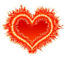 Fire Heart 2 Royalty Free Stock Photos