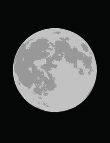 Free Moon On Black Background Royalty Free Stock Photos - 4061178