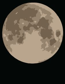 Free Moon On Black Background Stock Image - 4061181