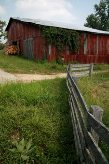 REd Barn And Silo Royalty Free Stock Image