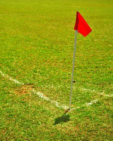 Red Corner Flag Royalty Free Stock Image