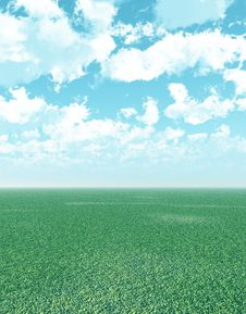 Free Beautiful Landscape With Puffy Clouds Royalty Free Stock Photography - 4061787