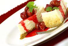 Free Cherry Cheesecake Royalty Free Stock Photos - 4062118