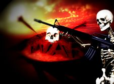 Free War Skeleton War Background 11 Royalty Free Stock Photos - 4062258
