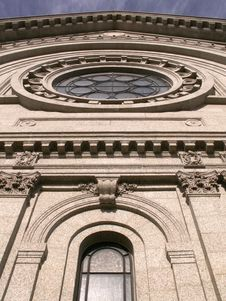 Free Round Church Window And Arch Stock Photography - 4062612