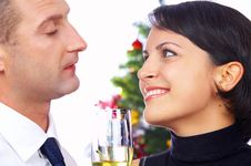 Free Champagne Couple Royalty Free Stock Photo - 4062745
