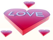 Love With Word 4 Stock Photo
