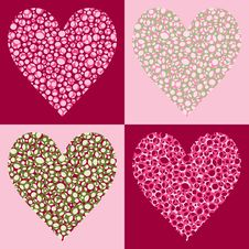 Free Four Bubble Filled Hearts Royalty Free Stock Photo - 4063035