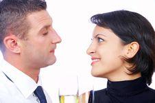 Celebrating Couple Stock Photos