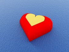 Free Heart In Water Royalty Free Stock Image - 4063146