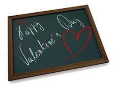 Free Valentine S Chalkboard Royalty Free Stock Images - 4063729