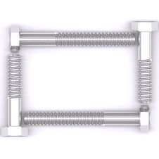 Free Screws Frame 2 Stock Image - 4063731