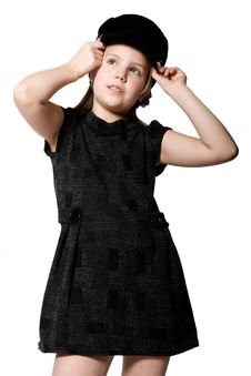Free Blond Child In Black Outfit Royalty Free Stock Images - 4064219