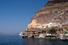 Coastline Of The Thracia Island Royalty Free Stock Photo