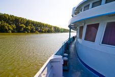 Free Ship Cruising On Large River Stock Photography - 4064612