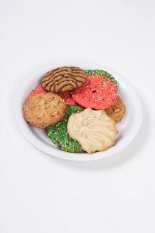 Assorted Holiday Cookies Stock Photography