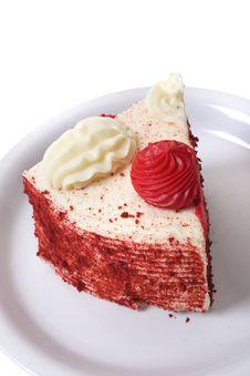 Free Slice Of Red Velvet Cake Stock Images - 4065154