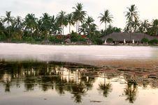 Free Emtry Beach At Sunrise Stock Image - 4065161