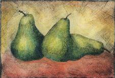 Free Green Pears Grunge Stock Photos - 4065493