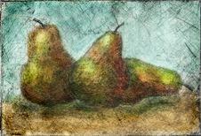 Free Pears Grunge Stock Image - 4065501