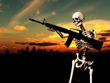 Free War Skeleton With Background 2 Stock Photo - 4065940