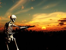 Free War Skeleton With Background 3 Royalty Free Stock Photo - 4065965