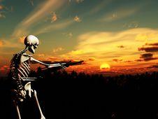 Free War Skeleton With Background 3 Royalty Free Stock Photo - 4065965