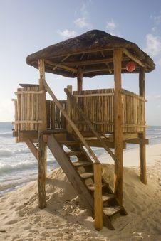 Free Lifeguard Hut Royalty Free Stock Photography - 4065967