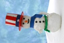 Uncle Sam Snowman Royalty Free Stock Images