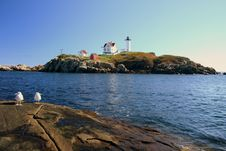 Free Nubble Lighthouse Royalty Free Stock Photography - 4066807