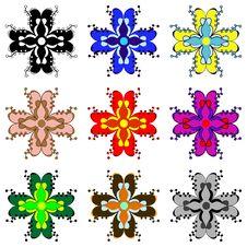Color Floral Elements Stock Photos