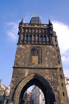 Free Czech Republic, Prague: Tower, St Charles Bridge Stock Image - 4067881