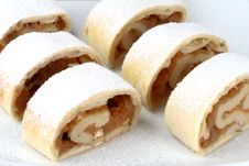 Free Apple Roll (strudel) Royalty Free Stock Image - 4068686