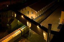 Free Train At Night Stock Image - 4068721