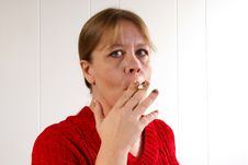 Woman Smoking Stock Photography