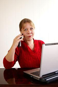 Free Woman Talking Stock Photography - 4069382