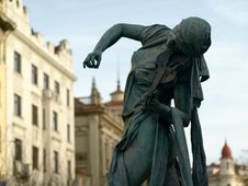 Free A Playing Statue Stock Image - 4069871