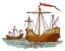 Old English War Ship Royalty Free Stock Images